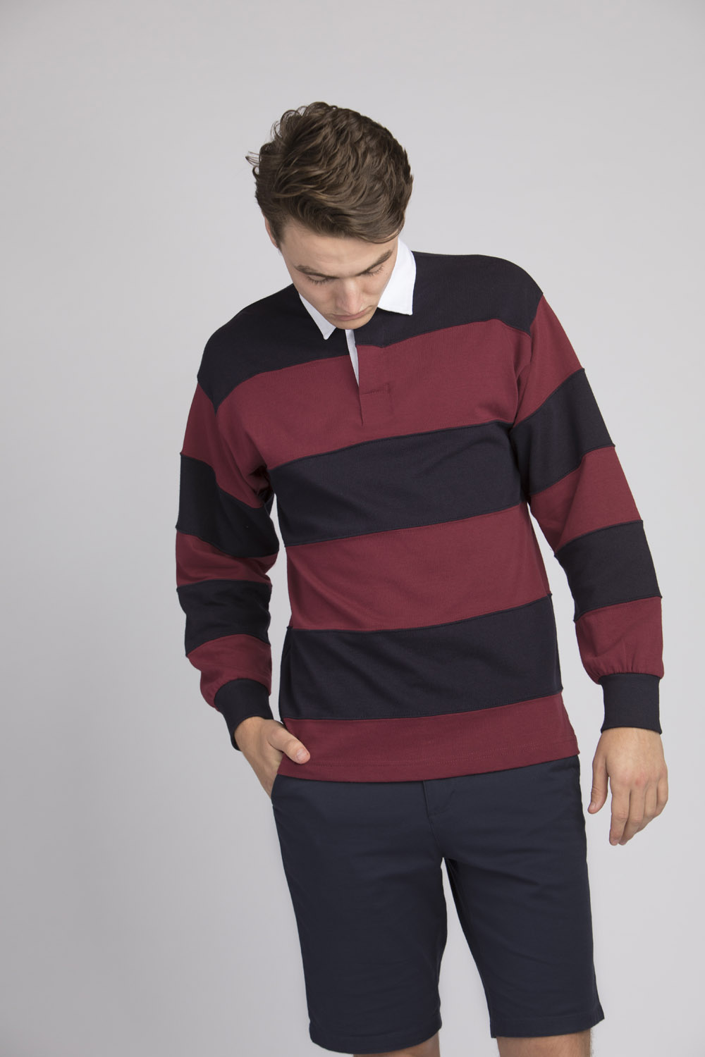 64fca219a9c FR008 SEWN STRIPE L/S RUGBY SHIRT – Front Row & Co