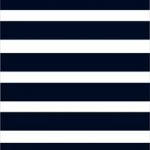 WHITE NAVY STRIPE